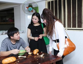Hà Phương về nước giúp đỡ trẻ em mồ côi
