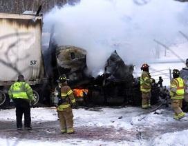 Mỹ: Gần 200 xe tai nạn làm tê liệt đường cao tốc