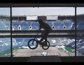 Màn trình diễn xe đạp mạo hiểm ấn tượng