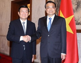Chủ tịch nước Trương Tấn Sang hội kiến với các lãnh đạo Trung Quốc