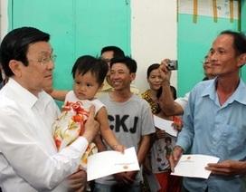 Chủ tịch nước thăm công nhân xa quê ở Bình Dương