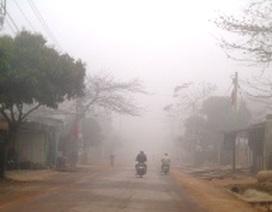 Sương mù xuất hiện dày đặc tại Quảng Bình