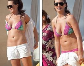 Hoa hậu bị tước vương miện khoe bụng bầu với bikini