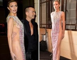 Siêu mẫu Anh táo bạo khoe thân với váy xuyên thấu không nội y