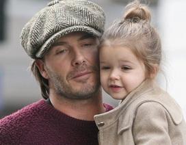 David Beckham và con gái cưng má kề má