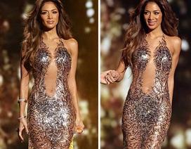 Giám khảo của X Factor gợi cảm với váy xuyên thấu gắn kim sa