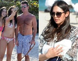 Simon Cowell đưa con trai mới chào đời đi tắm biển