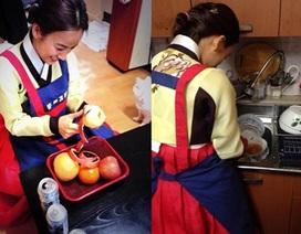 Lee Hyori làm dâu đảm trong Tết truyền thống
