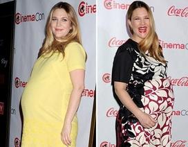 """Drew Barrymore """"bế"""" bụng bầu đi nhận giải thưởng"""