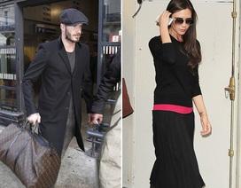 """David Beckham sành điệu tới Pháp cổ vũ """"bà xã"""""""