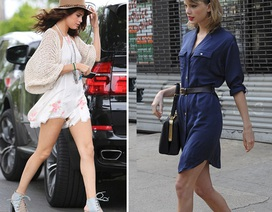 Selena Gomez - Taylor Swift khoe chân thon