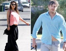 Mila Kunis - Ashton Kutcher luộm thuộm ra phố
