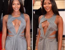 Siêu mẫu U50 thu hút với váy cắt xẻ táo bạo