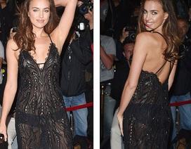 Siêu mẫu Nga gợi cảm với váy xuyên thấu