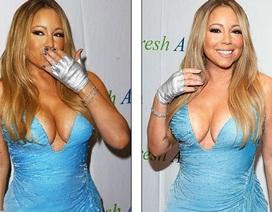 """Choáng với váy """"phô"""" ngực hết cỡ của diva Mariah Carey"""