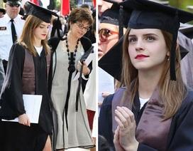 """""""Cô phù thủy nhỏ"""" Emma Watson xinh đẹp trong lễ tốt nghiệp"""