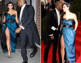 Kim Kardashian khoe chân thon với váy xẻ táo bạo