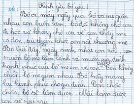 Tâm thư xúc động khuyên bố mẹ làm lành của bé cấp 1