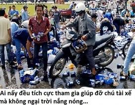 """Dân mạng """"dậy sóng"""" chế ảnh những kẻ """"hôi bia"""" ở Đồng Nai"""
