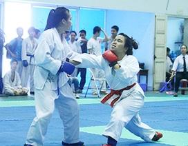 Sinh viên miền Bắc tranh tài võ Karatedo