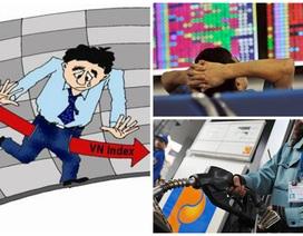 """Xăng tăng mạnh """"nhuốm đỏ"""" thị trường chứng khoán"""