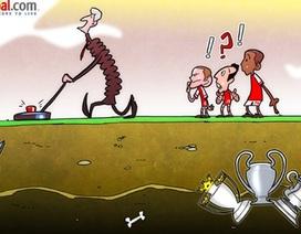 Biếm họa: Arsene Wenger mòn mỏi tìm kiếm danh hiệu cho Arsenal