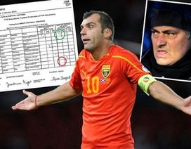 """Tiếp """"cuộc chiến"""" Mourinho - FIFA: Chữ kí của Pandev bị giả mạo"""