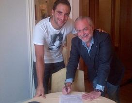 Higuain chính thức rời Real Madrid để gia nhập Napoli