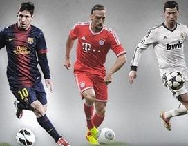 """Messi, Ronaldo, Ribery tranh giải """"Cầu thủ xuất sắc nhất châu Âu"""""""