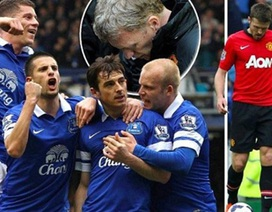 MU thua đau đớn Everton trong ngày trở lại của David Moyes