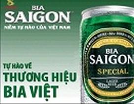 Bia SAIGON mạnh mẽ bên cạnh các thương hiệu bia của thế giới
