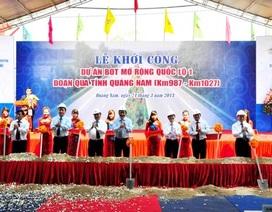 Khởi công QL1A đoạn qua Quảng Nam