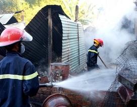 Xưởng ép dầu lạc bốc hỏa sau tiếng nổ lớn