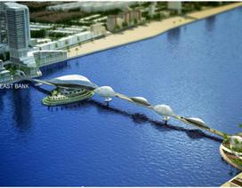 """Tranh luận """"nóng"""" về cây cầu đi bộ qua sông Hàn"""
