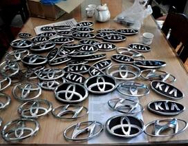 Bắt nhóm trộm chuyên tháo logo ôtô