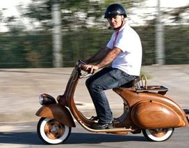 Bạn có dám đi Vespa bằng gỗ?