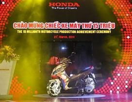 Honda đạt mốc 15 triệu xe máy tại Việt Nam
