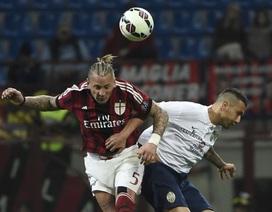 """Thua đau phút cuối, AC Milan tiếp tục """"rơi tự do"""""""