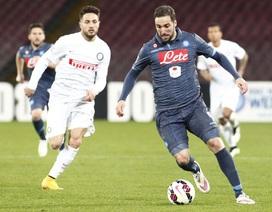 Napoli đánh rơi chiến thắng vô cùng đáng tiếc trước Inter
