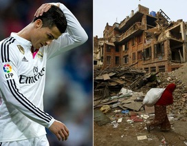 C.Ronaldo từ thiện 7 triệu euro cho nạn nhân vụ động đất ở Nepal