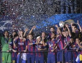 Chùm ảnh: Barcelona vỡ òa ăn mừng chức vô địch Champions League