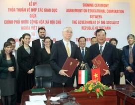 Thỏa thuận hợp tác giáo dục với Hungary