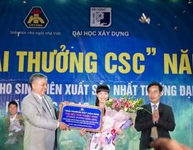 Nữ sinh viên xuất sắc của ĐH Xây dựng nhận giải thưởng 105 triệu đồng