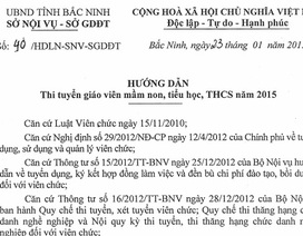 Năm 2015: Bắc Ninh đưa phần thi thực hành vào tuyển giáo viên