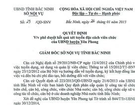 """Hậu """"lùm xùm"""" tuyển dụng ở Yên Phong: 129 giáo viên hợp đồng được đặc cách thành viên chức"""