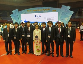 Việt Nam giành 2 huy chương vàng Olympic Vật lý châu Á 2015