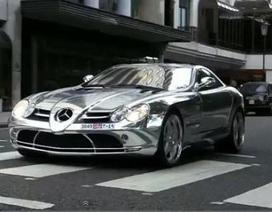 Ngắm siêu xe Mercedes SLR McLaren độ Brabus mạ crôm