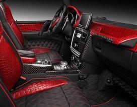 G65 AMG nội thất da cá sấu đỏ độc đáo