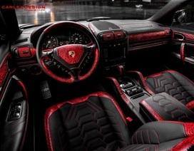 Porsche Cayenne nội thất da cá sấu đỏ