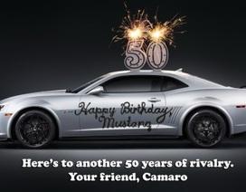 Camaro - Mustang: Cạnh tranh lành mạnh